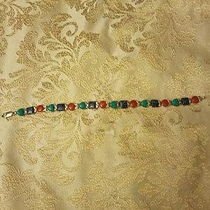 Carolyn Pollack sterling southwestern bracelet